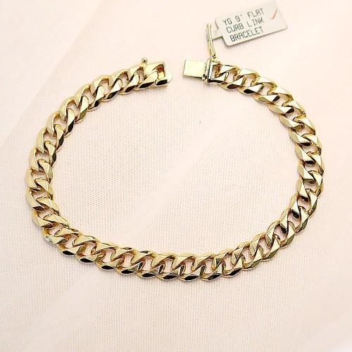 18k Yellow Gold Cuban Link Bracelet
