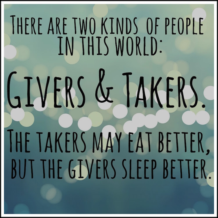 givers, takers, cynics