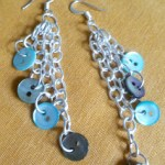 Chain earrings with Lots of Buttons