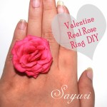 Valentine real rose ring DIY