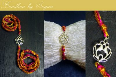 designer sterling silver rakhi