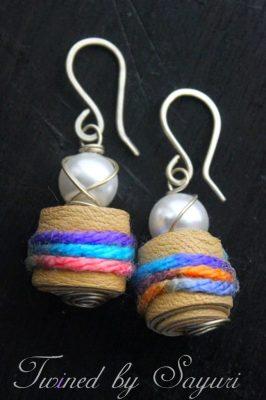 Twined earrings
