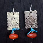 White Copper earrings – AJE COM reveal