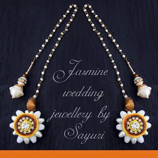 Jasmine Jasmine jewellery earrings with maatal