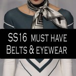 SS16 Must have belts and eyewear