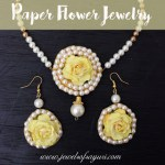Yellow and White haldi flower jewelry