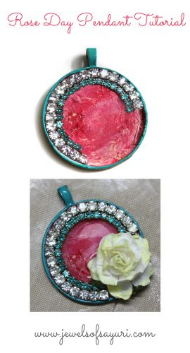 Rose day pendant tutorial