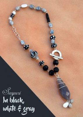 Black, white and gray necklace