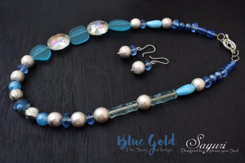 Blue gold necklaces