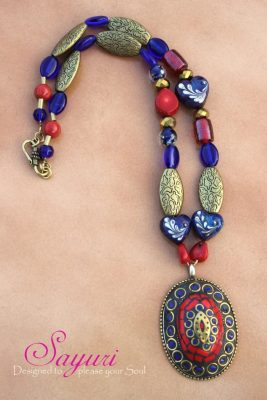 tibetan blue necklace