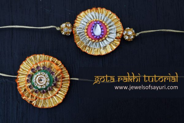 gota rakhi tutorial