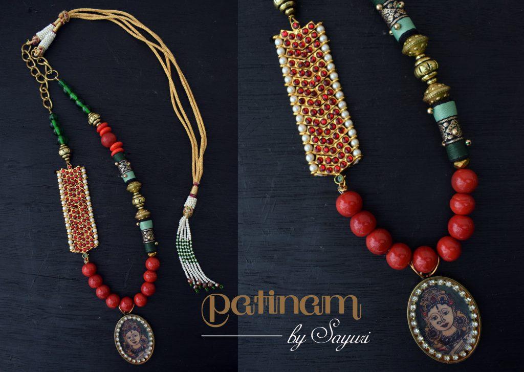 kalamkari dance necklace