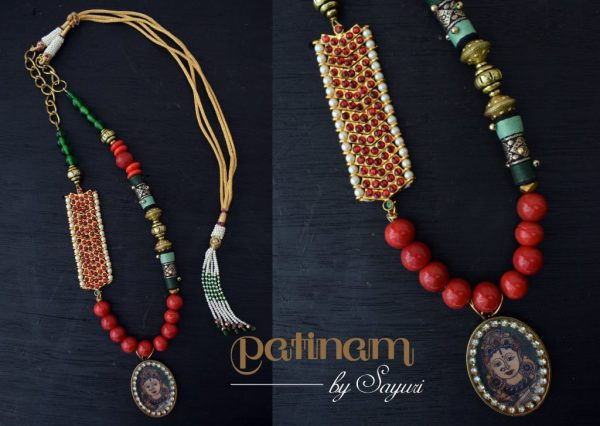 kalamkari dance necklace