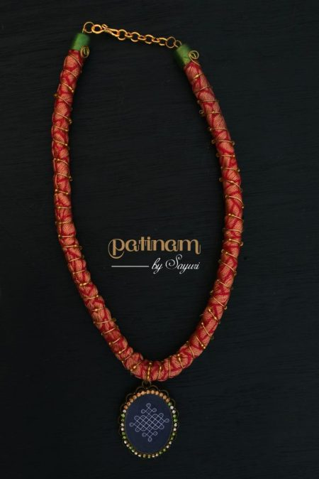 kolam cord necklace