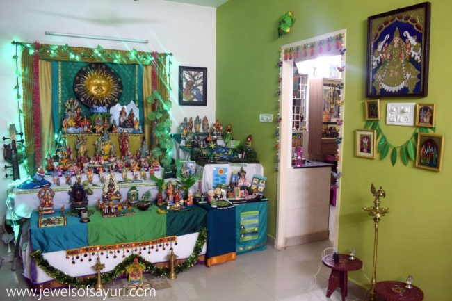 green navaratri golu idea