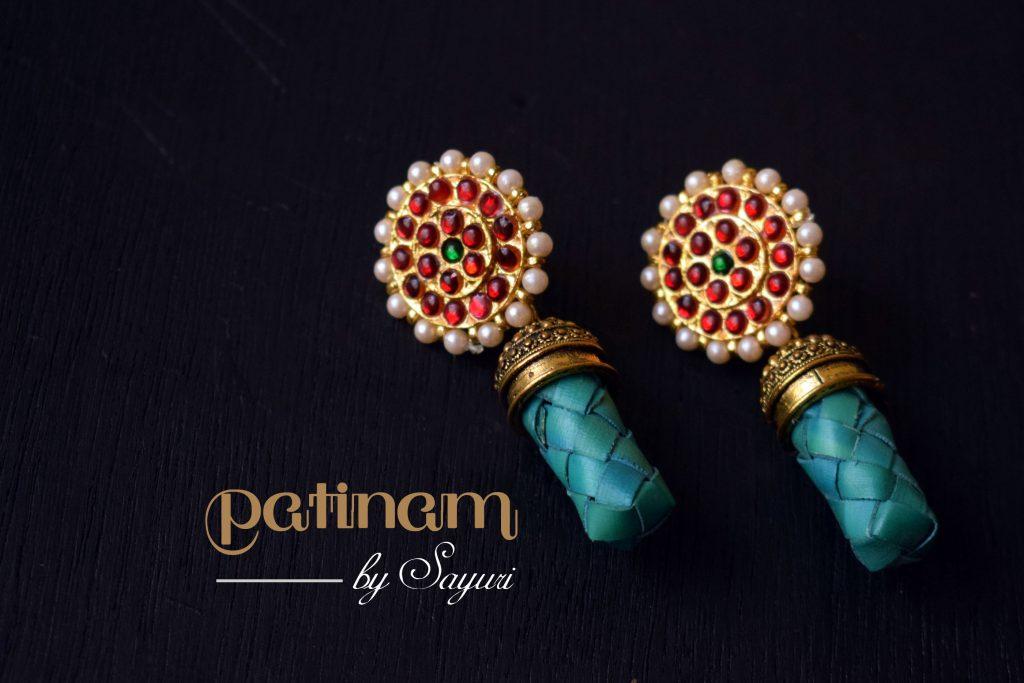 kemp palm leaf earrings