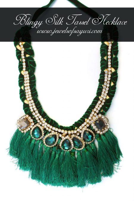 Blingy Silk tassel necklace