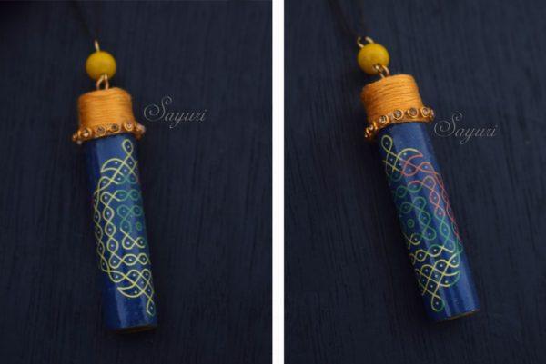 kolam bottle pendant