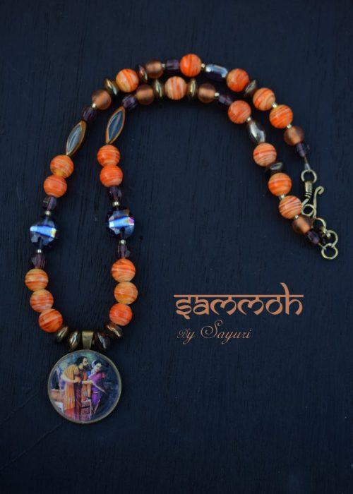 Arjuna Subhadra mahabharata necklace