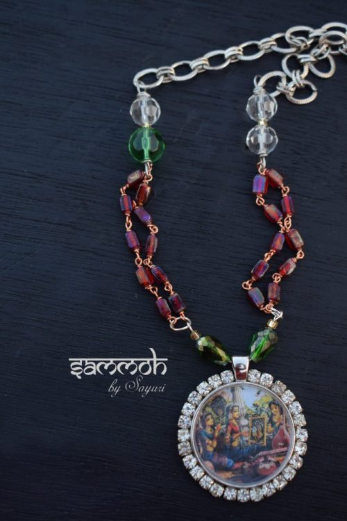 Purva Raga Radha pendant - Moods of Radha as jewelry
