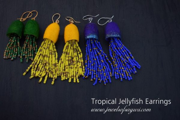 Tropical Jellyfish Earrings