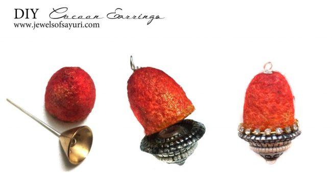 diy coccon earrings