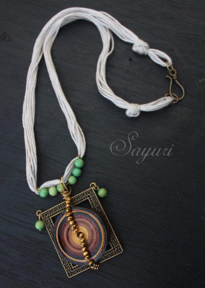 Paper Mandala necklace - for sale