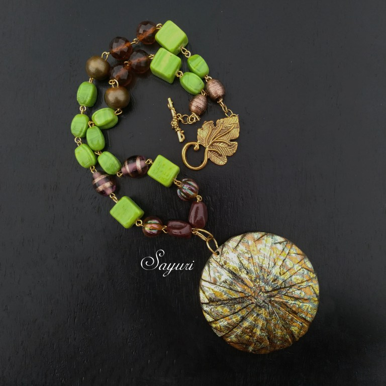 coconut shell necklace and mandala jewellery