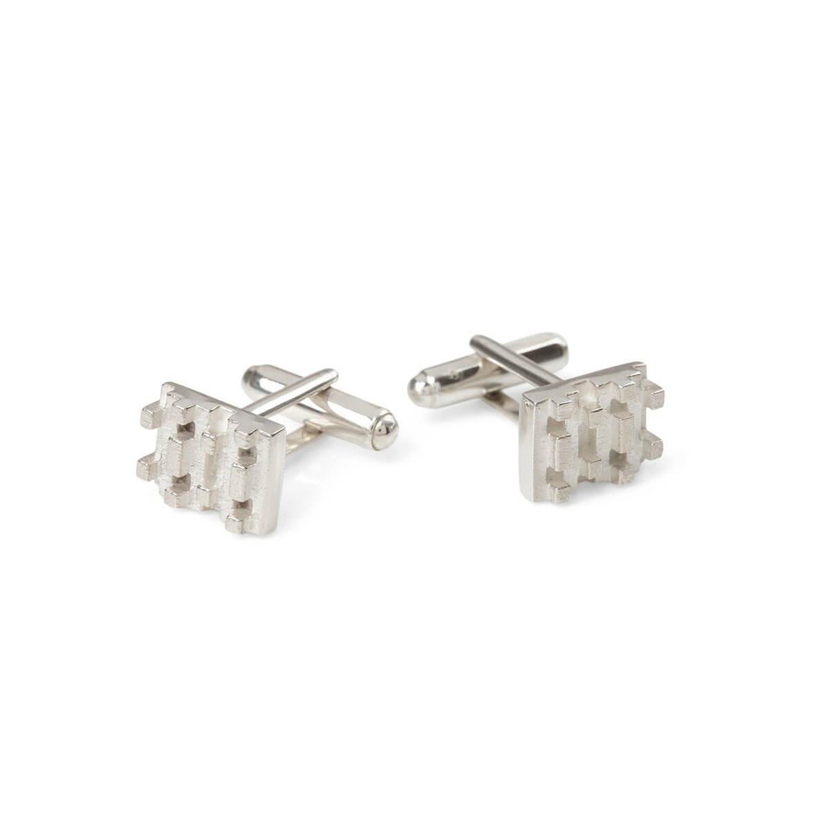 Hive lego cufflinks Sterling Silver