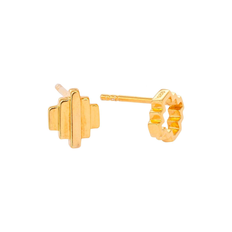 Baori Odd Couple Studs 18ct gold vermeil