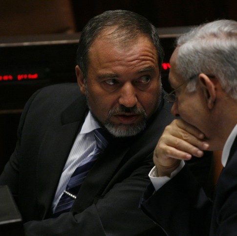 PM Netanyahu and Foreign Minister Liberman