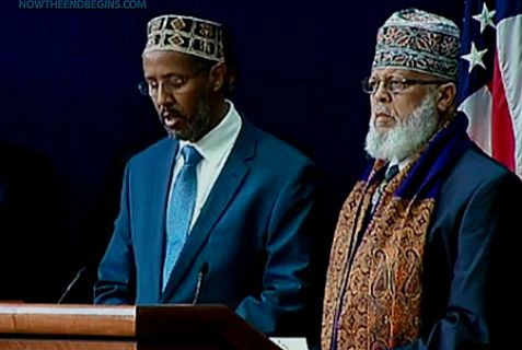 """Imam Abdisalam Adam tells the White House summit , """"Mosques serve as [a] beacon of hope."""""""