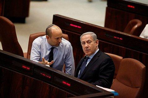 Naftali Bennett y el primer ministro Netanyahu.