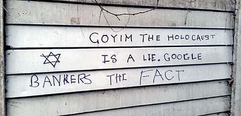 Antisemitic graffiti, London, January 2016 / Photo credit: CST