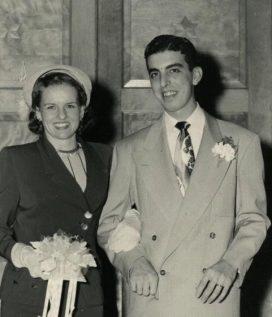 Nelda et Victor Rousso, sur le début de leur voyage à travers la vie.