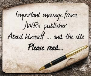 Letter from JWR publisher
