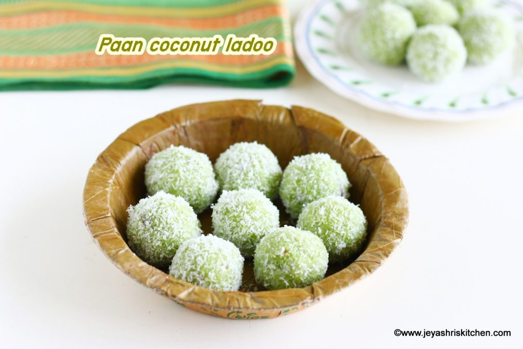 Paan coconut laddu recipe
