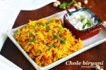 Chole Biryani recipe