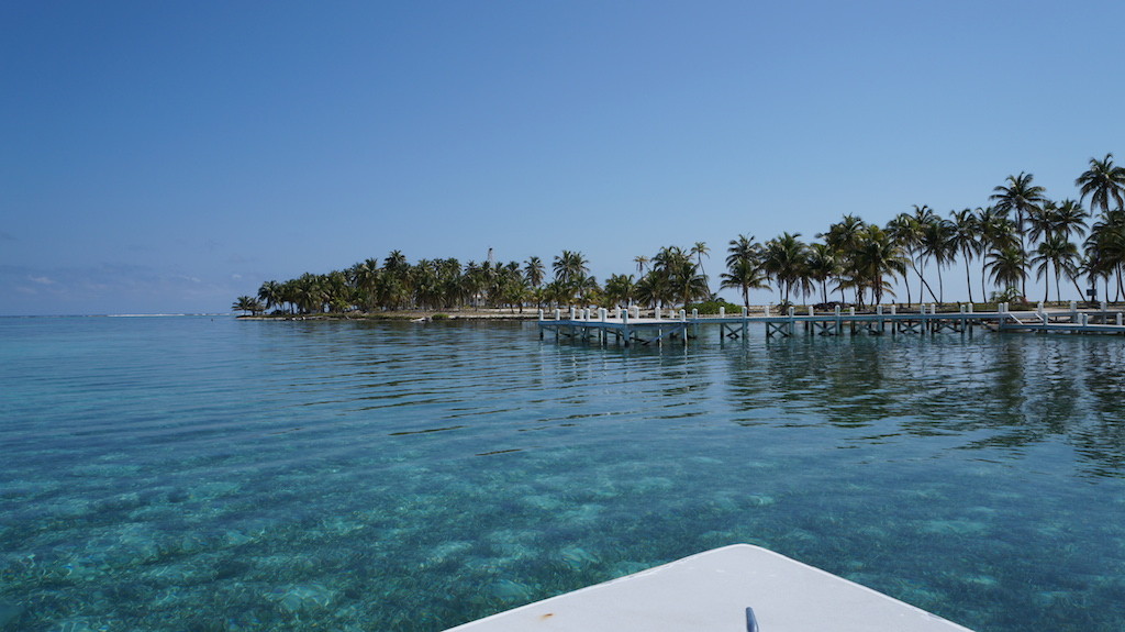 Lunch break during the dive trip to the Blue Hole of Belize