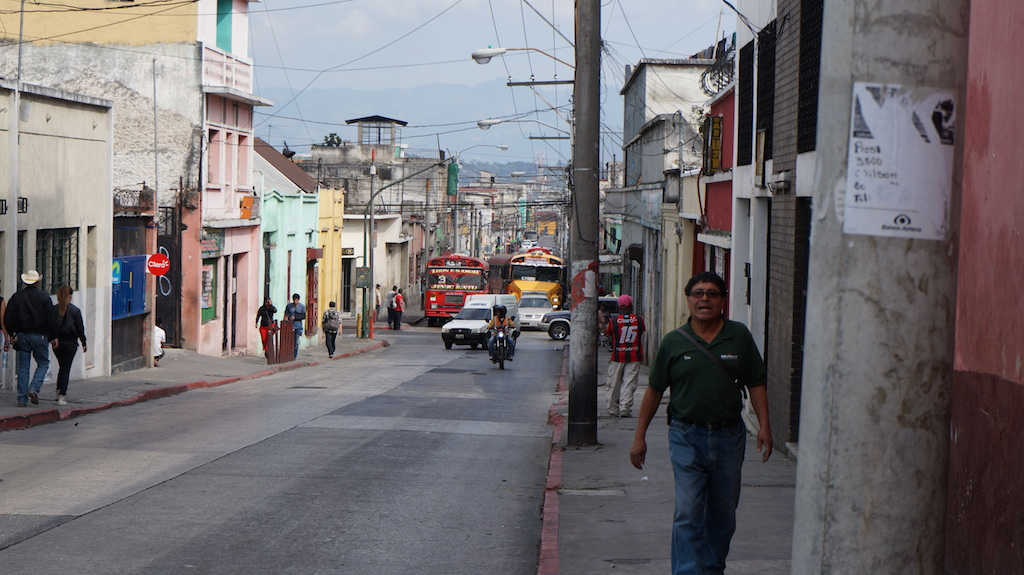 The streets of Guatemala City.