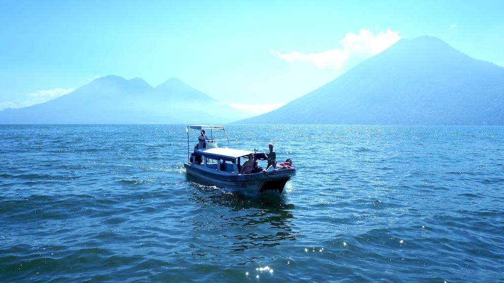 Water taxi on Lake Atitlan, Guatemala