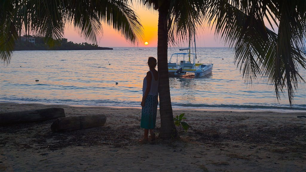 Sunset at West End of Roatan