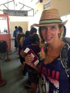 At the border of Guatemala...