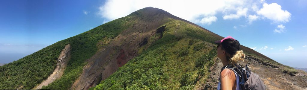 Hiking up Volcano Concepcion on Ometepe Island.