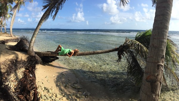 On one of the San Blas Islands in Panama