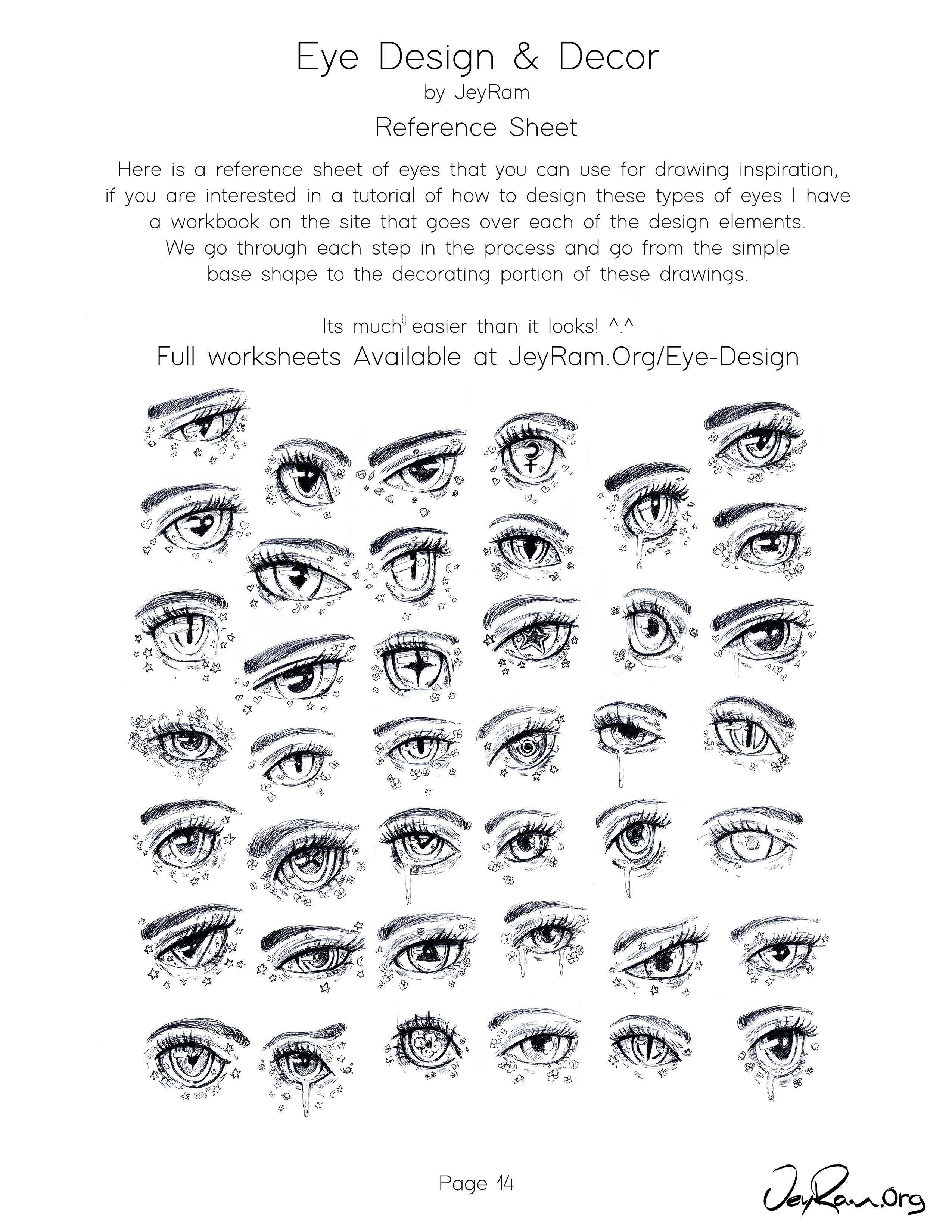 Female Anime Eye Design Tutorial Amp Reference Aesthetic