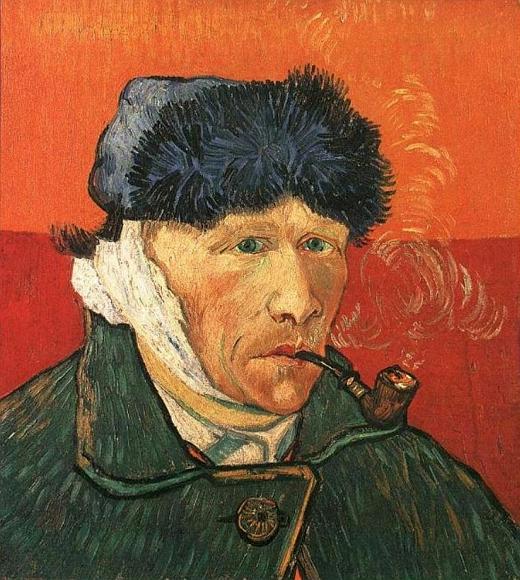 JEZT - Rainer Sauer - 17 Tage Europa - Vincent van Gogh - selfportrait with bandaged ear and pipe - Selbstportrait mit bandagiertem Ohr und Pfeife