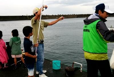 平塚漁港で釣体験