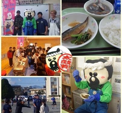 「ふれあい学校給食」第3弾!平塚市立港小学校を訪問。平塚定置でとれたサバが給食に登場!