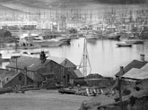 """""""The gold mines were spread out along the foothill rivers that carried the runoff from the Sierra Nevada mountain range, but the center of commerce was the tiny village of San Francisco, ideally situated on a large bay."""" (From Chapter 1; photo courtesy of San Francisco Maritime Historical Park; source: California Historical Society)"""